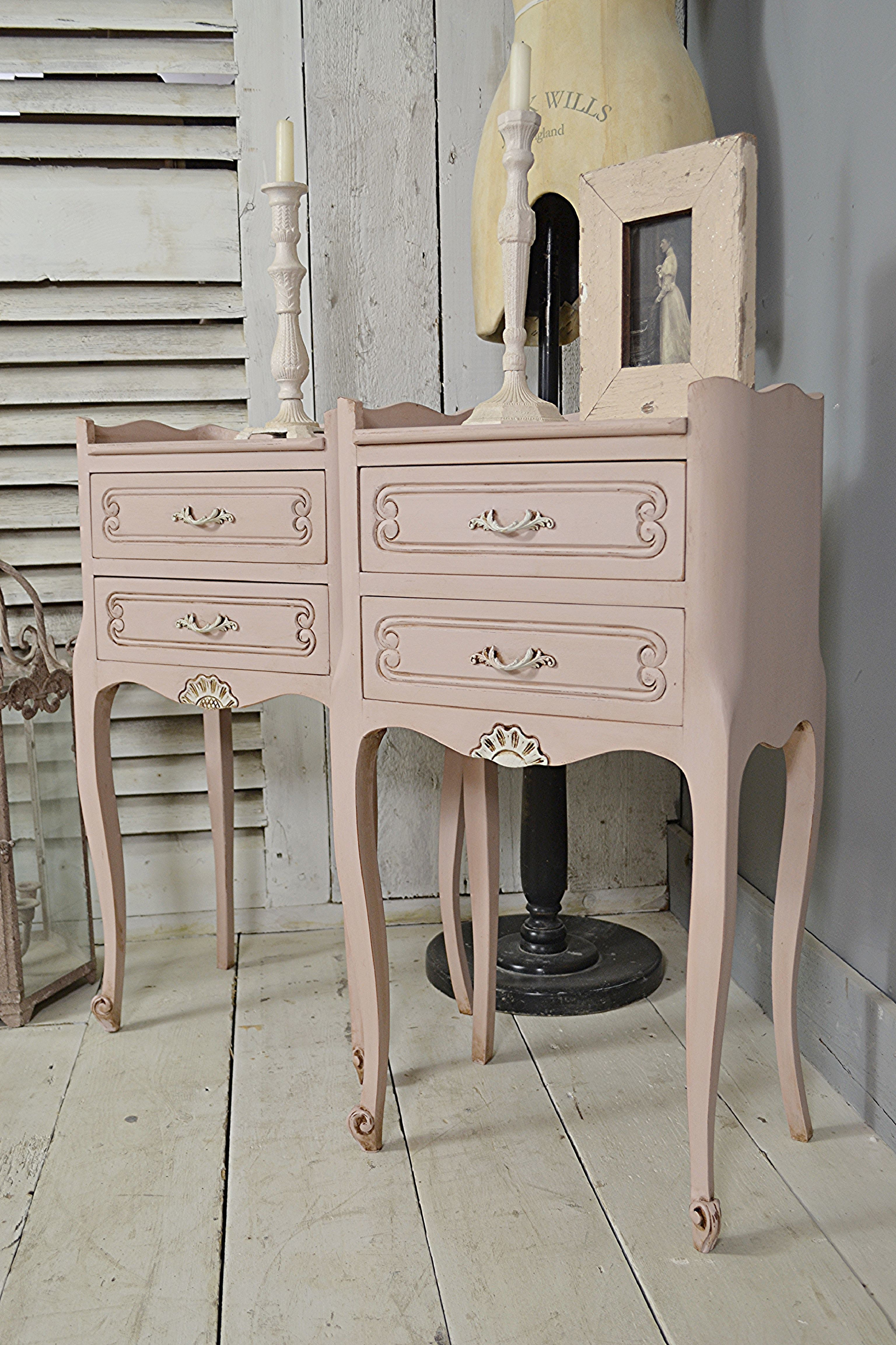Pair Of Vintage French Shabby Chic