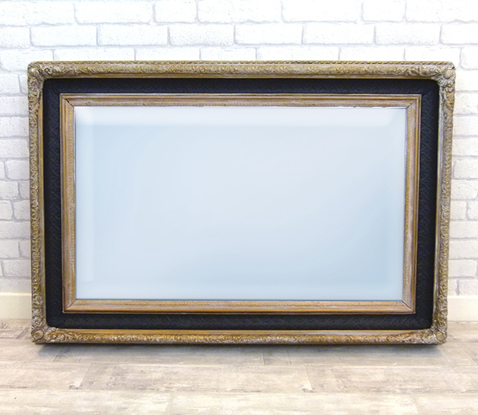 Vintage Black And Gold Mirror photo 1