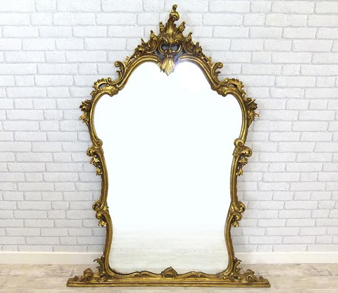 Ornate Gilt Pier Mirror