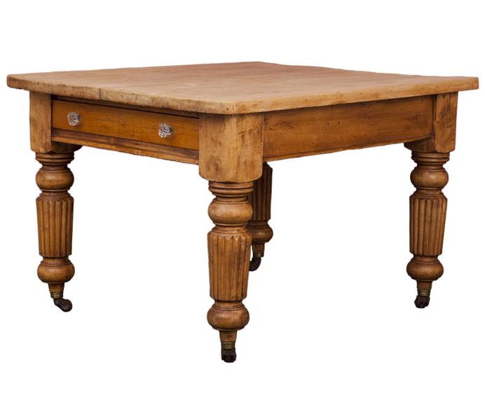 Antique Pine Kitchen Table Circa 1840