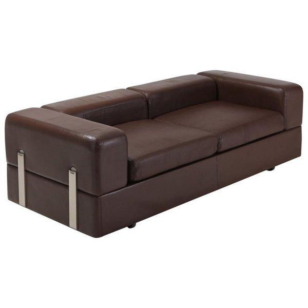 Brilliant Daybed Sofa 711 By Tito Agnoli For Cinova In Brown Leather Uwap Interior Chair Design Uwaporg