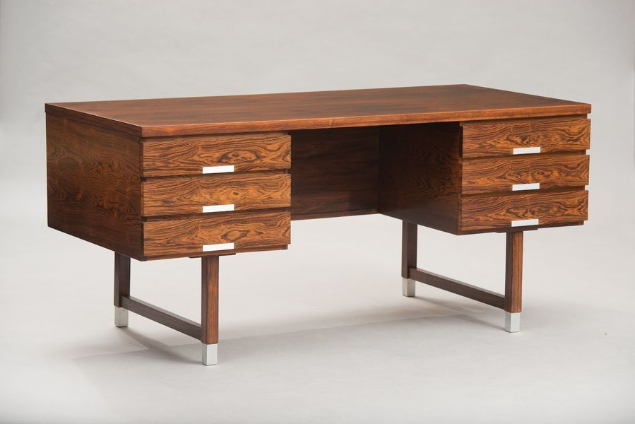 Danish Brazilian Rosewood Desk By Kai Kristiansen For Feldballes Møbelfabrik, 1960s