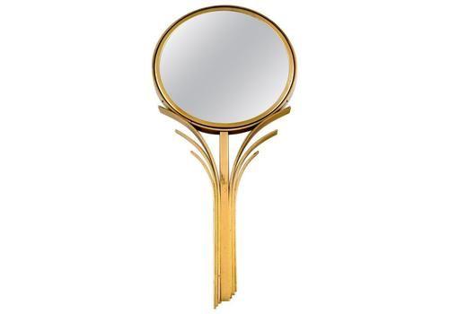 Ystad Metall, Sweden, Art Deco Hand Mirror In Bronze, 1930s