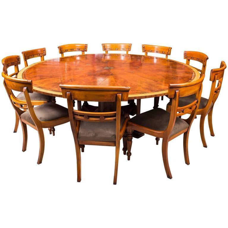 Theodore Alexander 7ft Diameter Flame Mahogany Jupe Dining Table