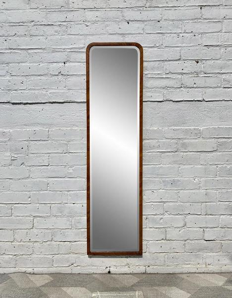 Vintage Art Deco Mirror Wood Frame Vinterior