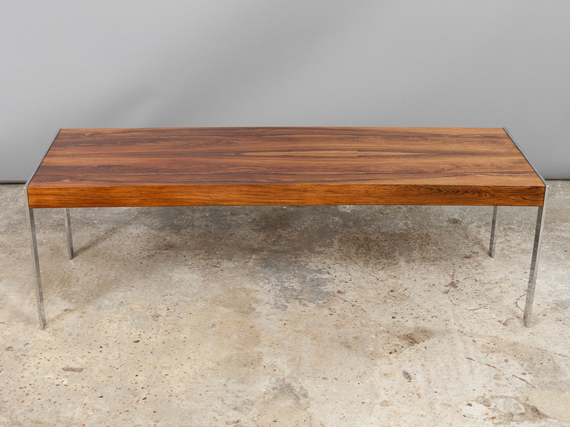 1960 S Merrow Associates Rosewood And Chrome Coffee Table