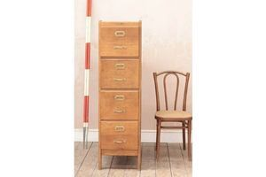 Thumb vintage rustic mid century wooden filing cabinet 0