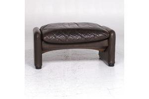 Thumb cassina maralunga designer leather stool brown footstool 9276 0