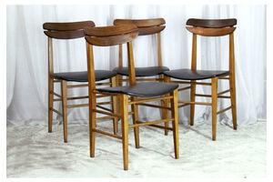 Thumb scandinavian dining chairs 1960s set of 4 0