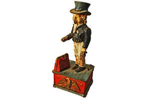 Thumb american uncle sam money box cast iron 0