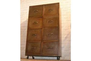 Thumb galvinised office filing cabinet draw industrial antique vintage haberdashery storage drawer metal locker 0