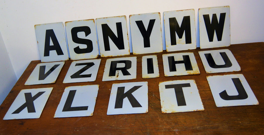17 Available Letter Enamel Sign Decor Advertising Mancave