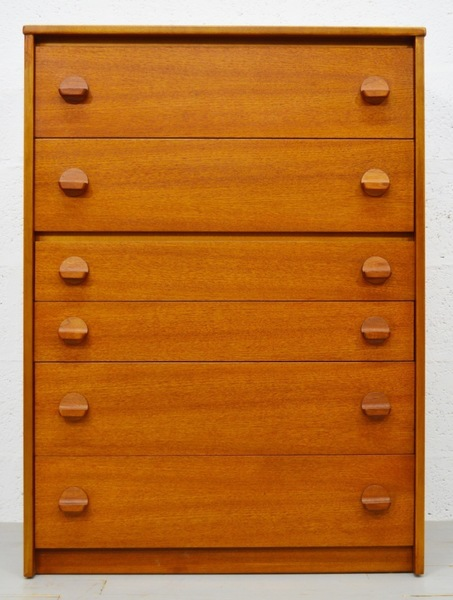 Mid Century Vintage Teak Tallboy Chest Of Drawers By Stag photo 1