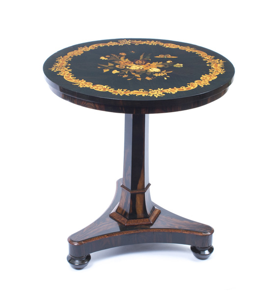 Antique Regency Coromandel Inlaid Occasional Table C1825