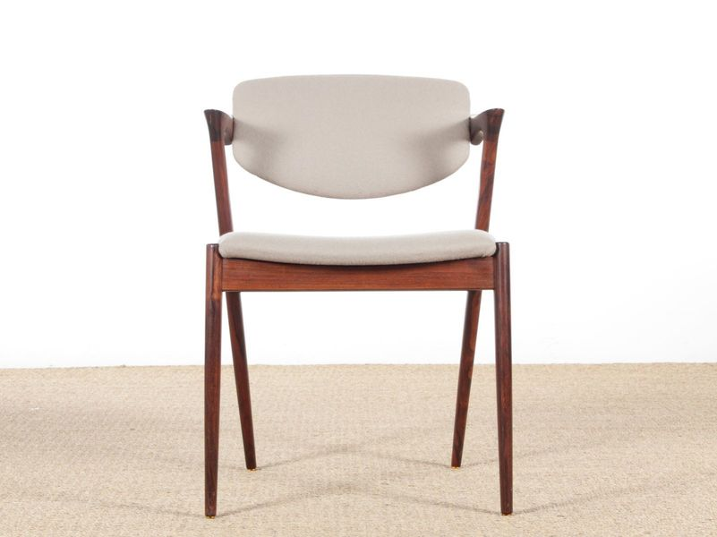 ... Model 42 Scandinavian Rosewood Chairs By Kai Kristiansen For Schou  Andersen, 1961, Set Of ...