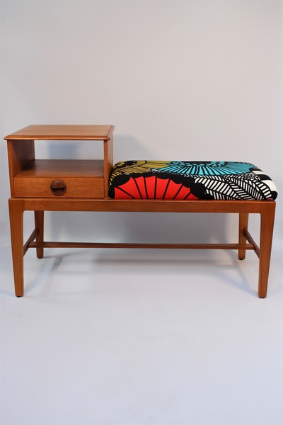 Mid Century Modern Vintage 1960s Telephone Table In