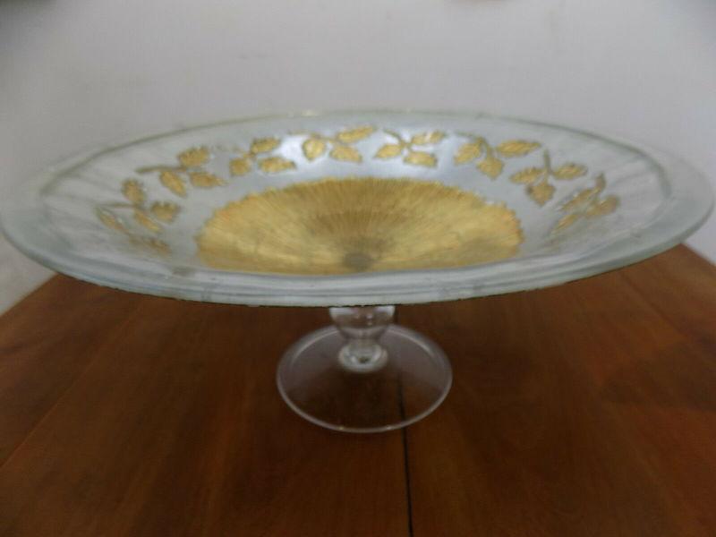 Large Gl Bowl Gold Silver Centre Piece Table Decoration Fruit