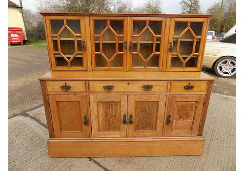 Vintage 1930 S Oak Sideboard Glazed Doors Gallery Top Cab