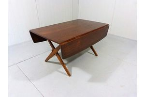 Thumb multifuntional teak dining and coffee table by hovmand olsen denmark 0