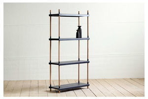 Thumb modern danish black modular bookcase shelving system display unit by cane line 0