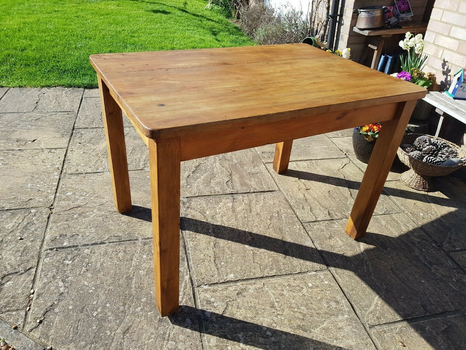 Vintage Pine Kitchen Table French Country Farmhouse Rustic Delivery Can Be  Arran   vinterior.co