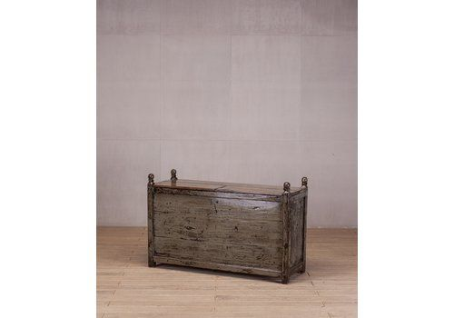 Antique Furniture 100% True Antique Vintage Mill Chest Original Paint Coffee Table Bed End Chest Be Novel In Design
