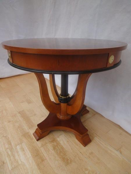 Antique Style Mahogany Parquetry Occasional Side Table