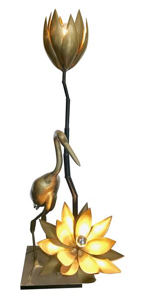Maison Jansen Heron And Lotus Floor Lamp photo 1