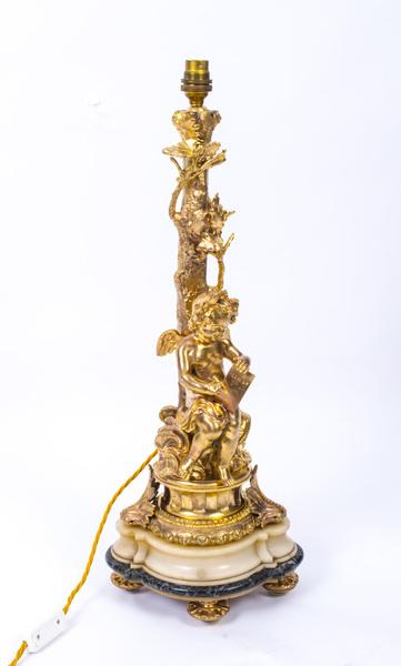 Antique Ormolu Table Lamp Louis Xvi Style C1900