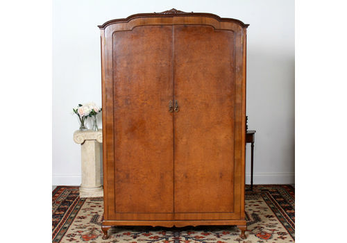 Edwardian (1901-1910) Alert Edwardian Art Nouveau/style Mahogany Single Wardrobe 100% Original Antique Furniture