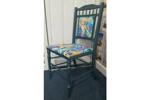 Thumb beautiful edwardian carved bedroom chair upcycled mermaids 0
