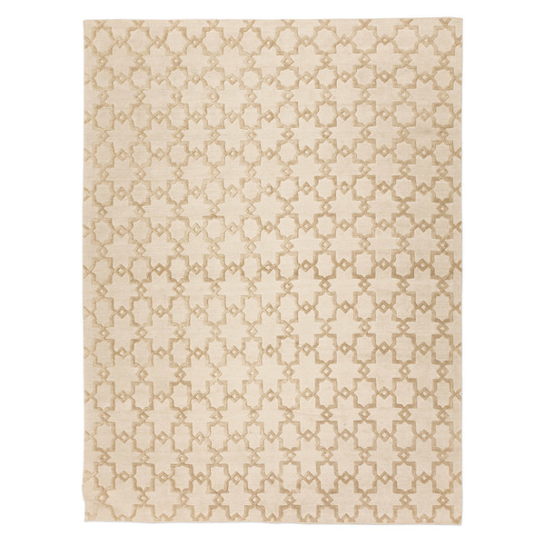 Silk And Wool Rug With Geometric Design In Soft Color. 2,50 X 3,50 M.