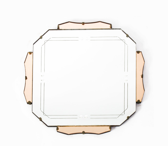 Antique Art Deco Mirror C.1920 photo 1
