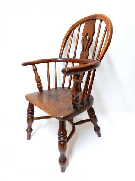 Antique Child's Windsor Armchair 19th Century photo 1