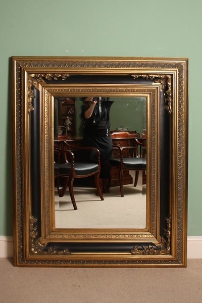 Stunning Large Rectangular Gilded Italian Mirror photo 1