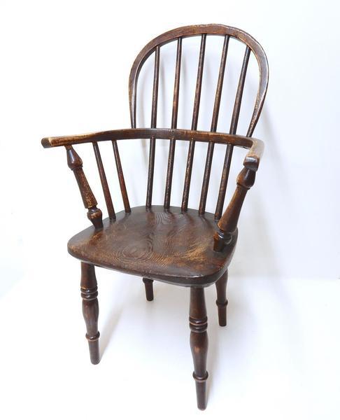 19th Century Child's Windsor Chair photo 1