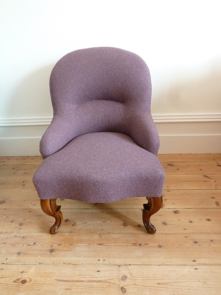 Fully Reupholstered Antique Chair