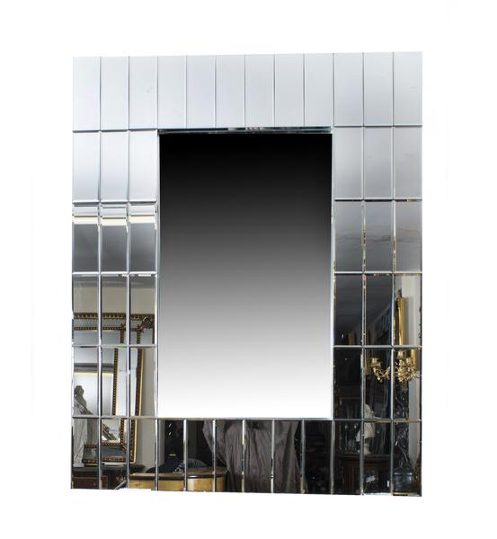 Super Chic Large Rectangular Art Deco Mirror photo 1