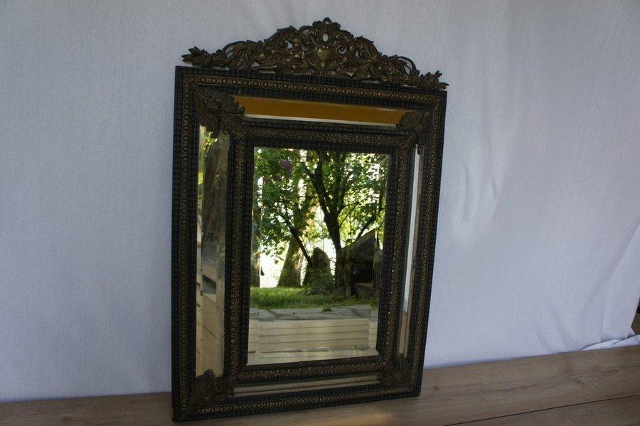 Vintage Napoléon Iii Brass Mirror