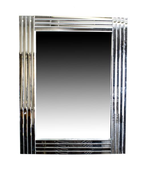 Beautiful And Ultra Chic Rectangular Art Deco Mirror