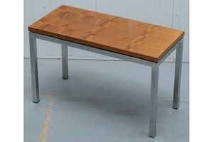 Thumb stunning teak and chrome contemporary small coffee table mid century styling 0