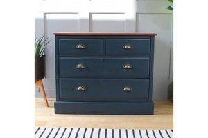 Thumb stripped oak chest of drawers in hague blue 47e231a1 4072 448a a13a d5951f5f8913 0