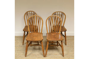 Thumb four country house kitchen elm antique windsor chairs 0