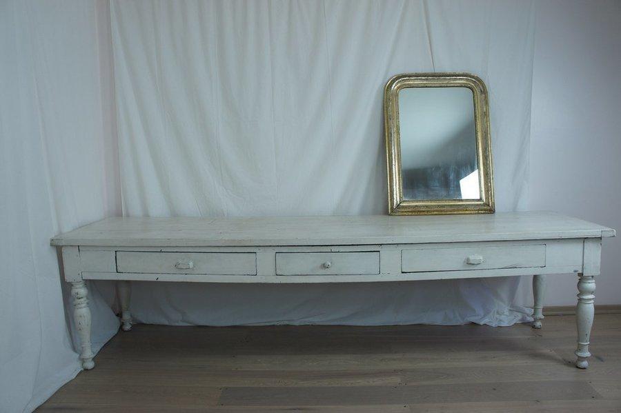 Vintage White French Farmhouse Table