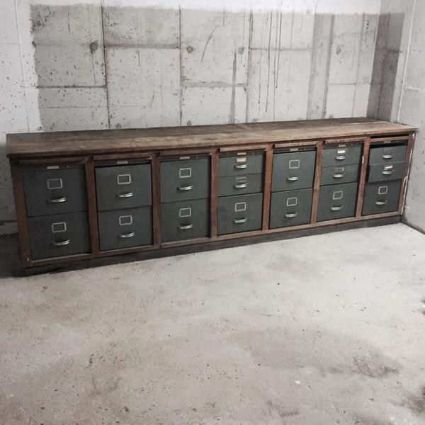 Industrial Mid Century Office Drawers