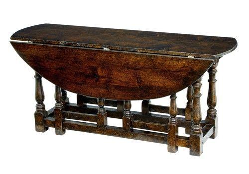 20 Th Century Oak Georgian Style Oak Gateleg Table