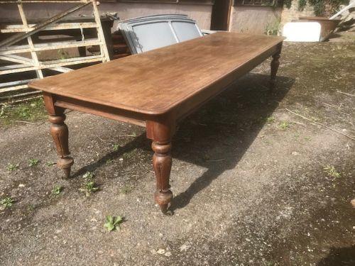 19th C Mahogany 10ft Refectory Table