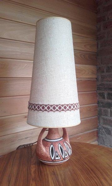 West German Lamp Base And Original Lamp Shade photo 1