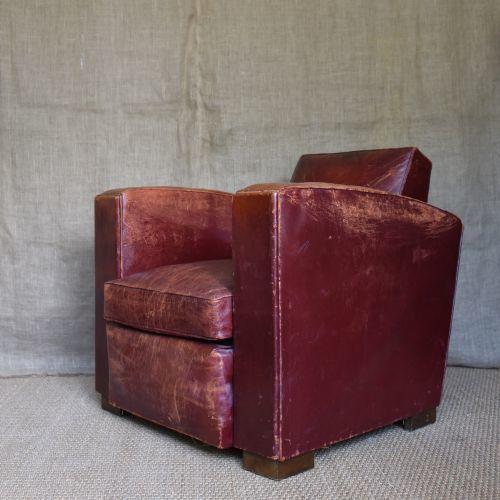 Incredible 1930S Red Leather Club Chair Frankydiablos Diy Chair Ideas Frankydiabloscom