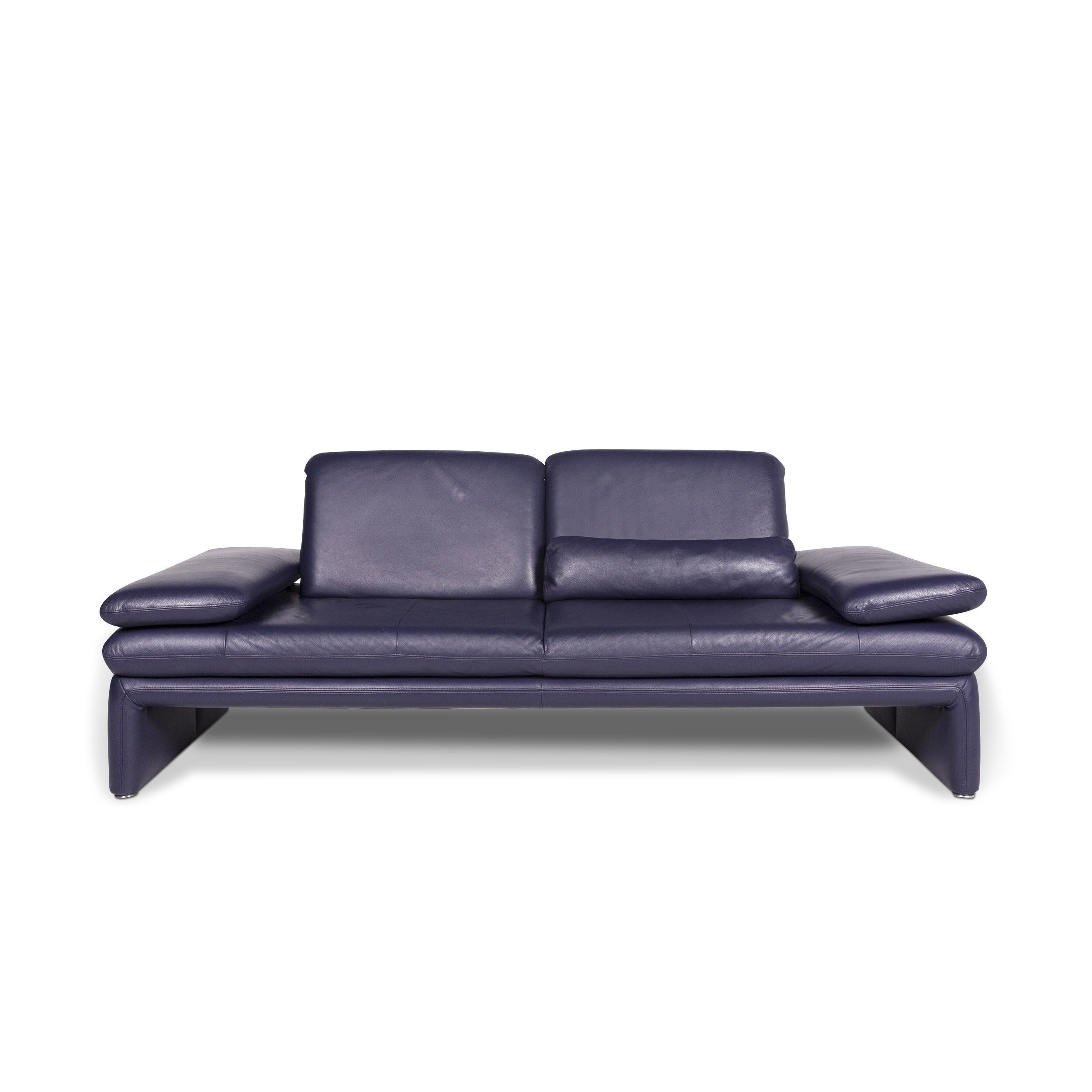 Astonishing Willi Schillig Designer Leather Sofa Purple Two Seater Couch 9590 Pdpeps Interior Chair Design Pdpepsorg